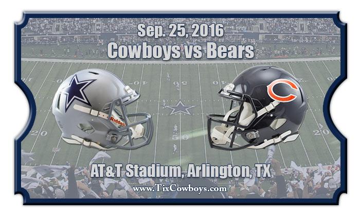 Dallas Cowboys Vs Chicago Bears Football Tickets