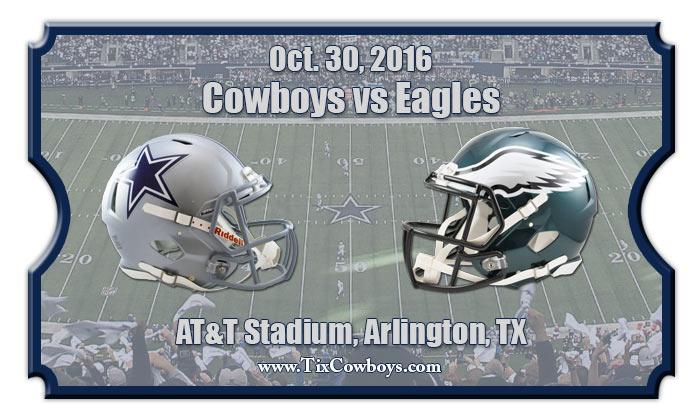 dallas cowboys vs philadelphia eagles football tickets oct 30 2016. Black Bedroom Furniture Sets. Home Design Ideas