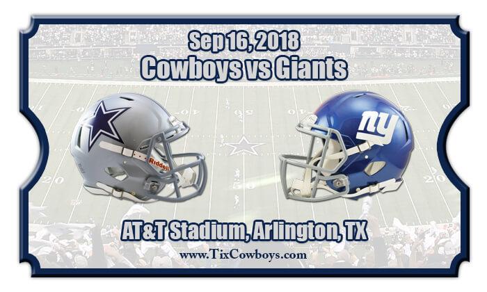 7571e1874 2018 Cowboys Vs Giants. Dallas Cowboys vs. New York Giants Tickets
