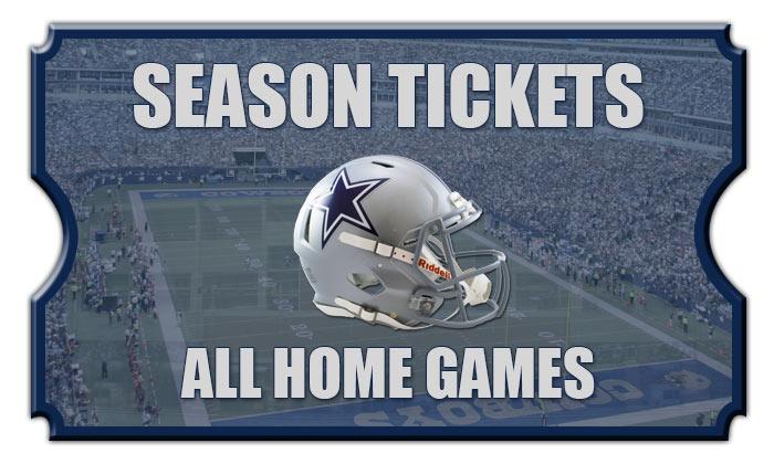 2018 Dallas Cowboys Season Football Tickets All Home Games